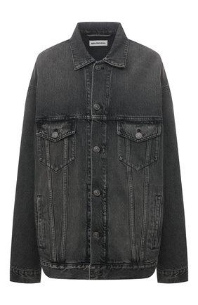 Женская джинсовая куртка BALENCIAGA черного цвета, арт. 646895/TBP47 | Фото 1