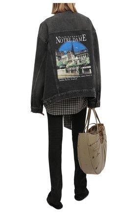 Женская джинсовая куртка BALENCIAGA черного цвета, арт. 646895/TBP47 | Фото 2