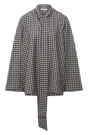 Женская рубашка BALENCIAGA черно-белого цвета, арт. 642288/TJ034 | Фото 1