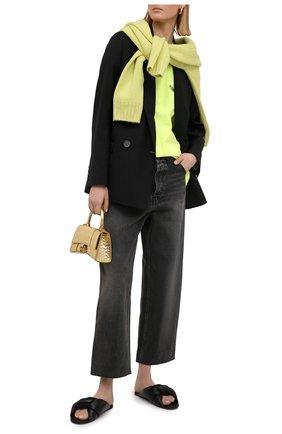Женская хлопковая футболка BALENCIAGA желтого цвета, арт. 641655/TJVF7 | Фото 2