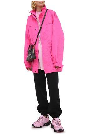Женская хлопковый лонгслив BALENCIAGA розового цвета, арт. 641583/TJVI1 | Фото 2