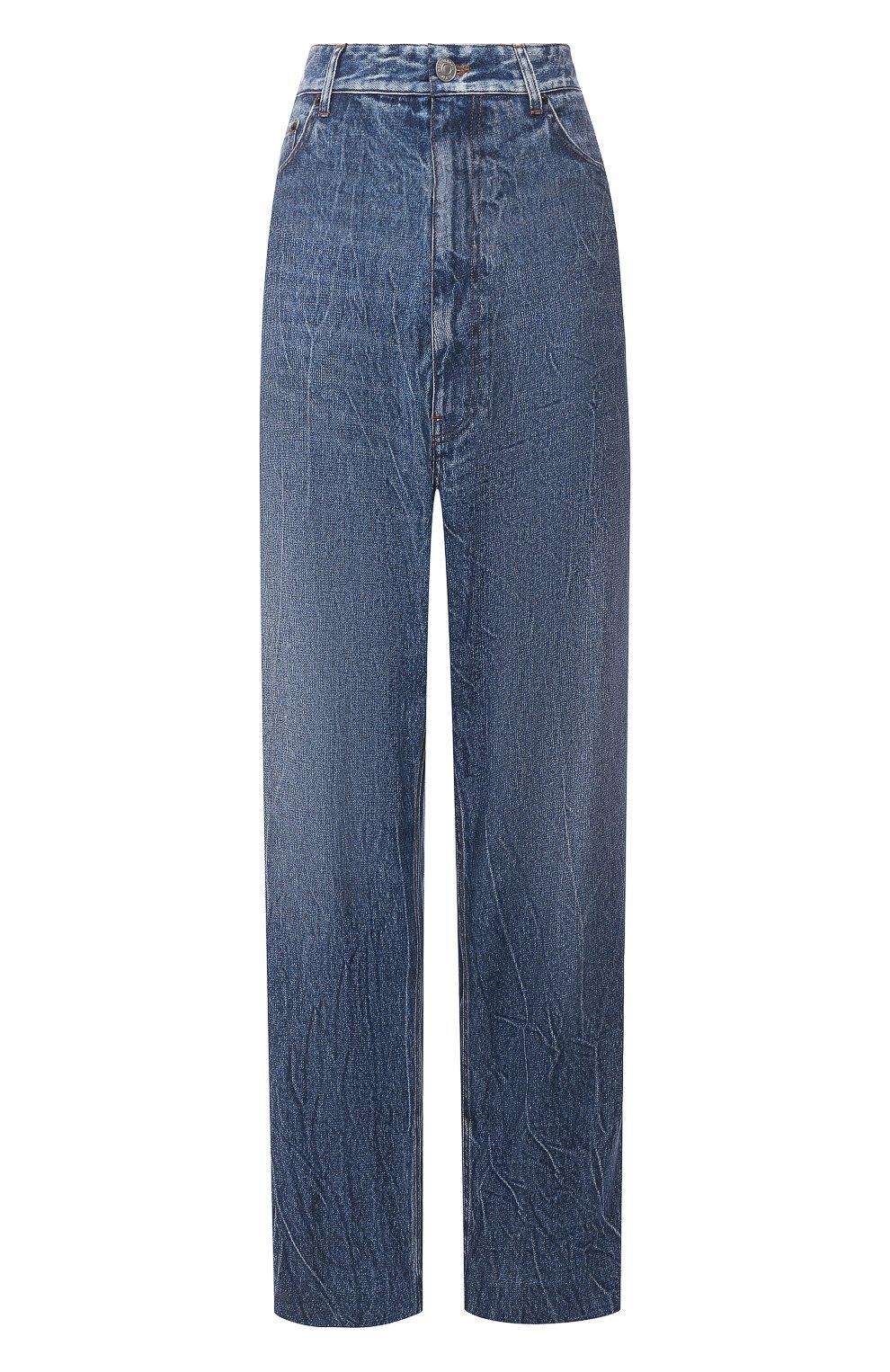 Женские джинсы BALENCIAGA синего цвета, арт. 641548/TJW47 | Фото 1