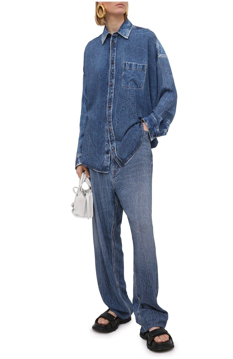 Женские джинсы BALENCIAGA синего цвета, арт. 641548/TJW47 | Фото 2