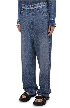 Женские джинсы BALENCIAGA синего цвета, арт. 641548/TJW47 | Фото 3