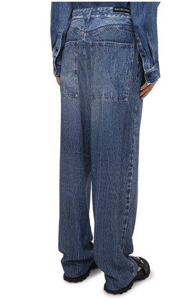 Женские джинсы BALENCIAGA синего цвета, арт. 641548/TJW47 | Фото 4