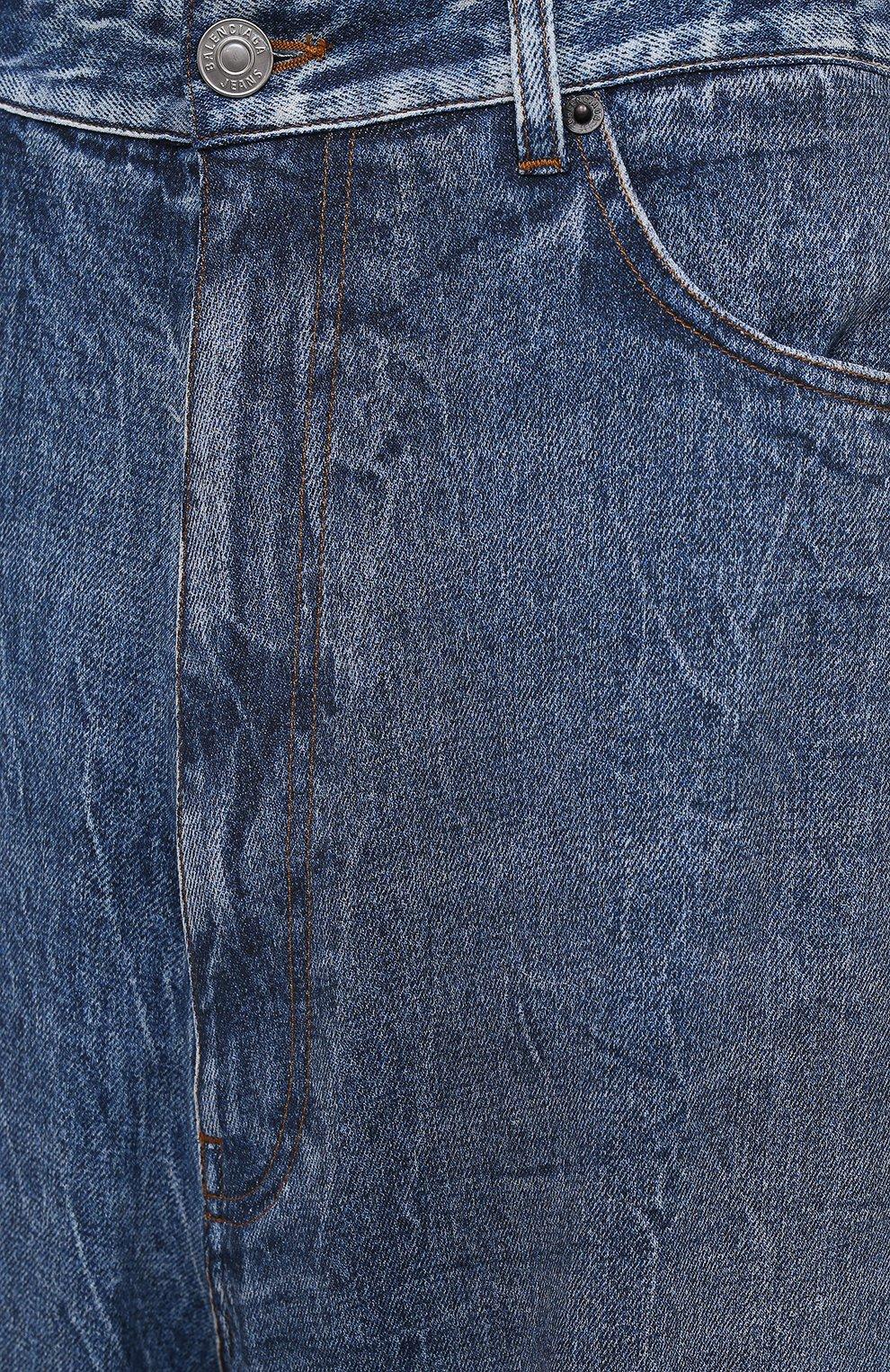Женские джинсы BALENCIAGA синего цвета, арт. 641548/TJW47 | Фото 5
