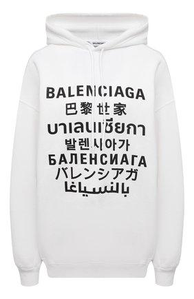 Женский худи BALENCIAGA белого цвета, арт. 641529/TJVI6 | Фото 1