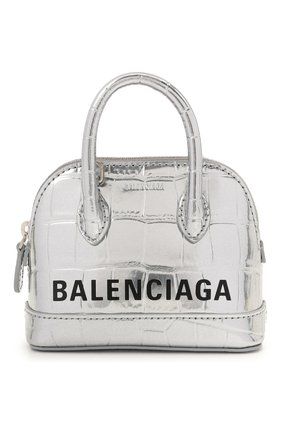 Женская сумка ville mini BALENCIAGA серебряного цвета, арт. 639756/1S4B3 | Фото 1