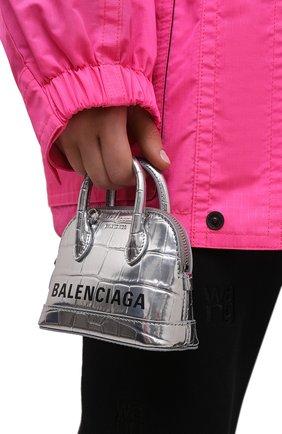 Женская сумка ville mini BALENCIAGA серебряного цвета, арт. 639756/1S4B3 | Фото 2