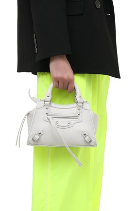 Женская сумка neo classic mini BALENCIAGA белого цвета, арт. 638524/15Y4Y | Фото 2