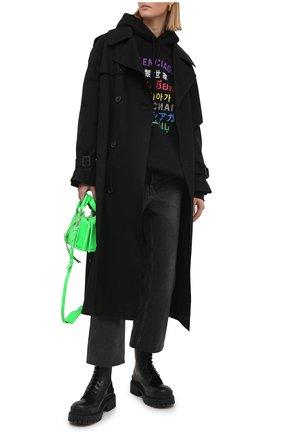 Женские джинсы BALENCIAGA черного цвета, арт. 600235/TBP47 | Фото 2