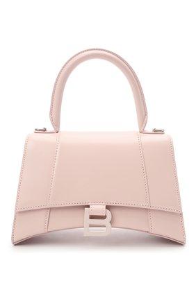 Женская сумка hourglass s BALENCIAGA светло-розового цвета, арт. 593546/1QJ4I | Фото 1