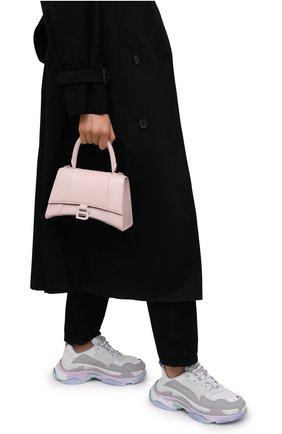 Женская сумка hourglass s BALENCIAGA светло-розового цвета, арт. 593546/1QJ4I | Фото 2