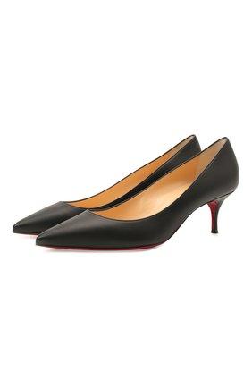 Женские кожаные туфли kate 55 CHRISTIAN LOUBOUTIN черного цвета, арт. 3191530/KATE 55   Фото 1