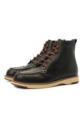 Женские кожаные ботинки TOD'S черного цвета, арт. XXW05E0EF70NHV | Фото 1