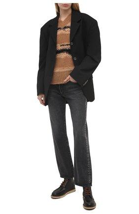 Женские кожаные ботинки TOD'S черного цвета, арт. XXW05E0EF70NHV | Фото 2