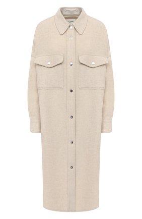 Женское шерстяное пальто ISABEL MARANT ETOILE кремвого цвета, арт. MA0902-21P064E/F0NTIA | Фото 1