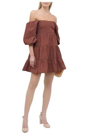 Женские кожаные туфли ribbon GIANVITO ROSSI светло-бежевого цвета, арт. G22056.85RIC.VERM0US | Фото 2