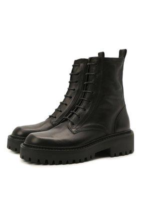 Женские кожаные ботинки VIC MATIE черного цвета, арт. 1Z5600D.Y10Y060101 | Фото 1