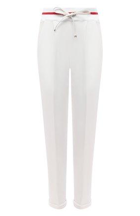 Женские брюки из хлопка и кашемира KITON белого цвета, арт. D51114K09T22 | Фото 1