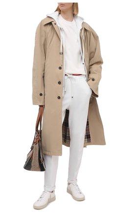 Женские брюки из хлопка и кашемира KITON белого цвета, арт. D51114K09T22 | Фото 2