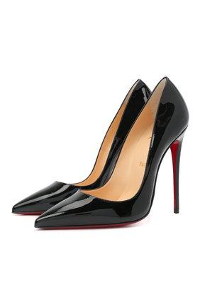 Женские кожаные туфли so kate 120 CHRISTIAN LOUBOUTIN черного цвета, арт. 3130694/S0 KATE 120 | Фото 1