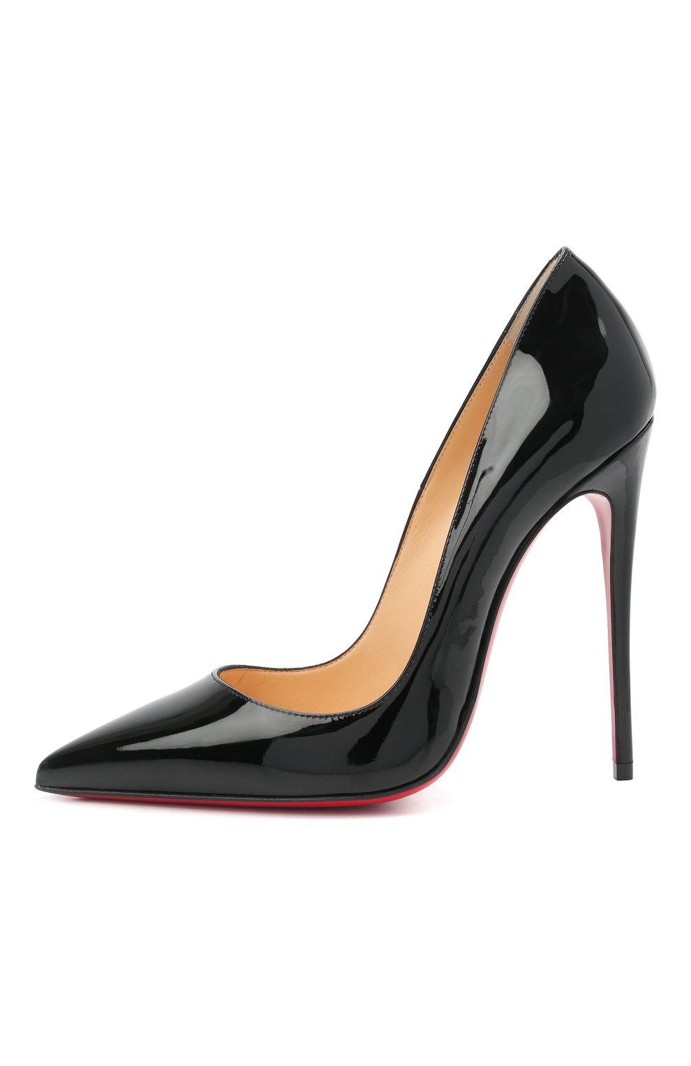 Женские кожаные туфли so kate 120 CHRISTIAN LOUBOUTIN черного цвета, арт. 3130694/S0 KATE 120 | Фото 3