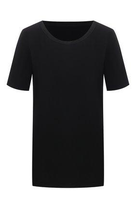 Женская хлопковая футболка UMA WANG черного цвета, арт. S1 W UP1052 | Фото 1 (Материал внешний: Хлопок; Длина (для топов): Стандартные; Рукава: Короткие; Женское Кросс-КТ: Футболка-одежда; Стили: Спорт-шик; Принт: Без принта)