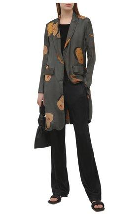 Женская хлопковая футболка UMA WANG черного цвета, арт. S1 W UP1052 | Фото 2 (Материал внешний: Хлопок; Длина (для топов): Стандартные; Рукава: Короткие; Женское Кросс-КТ: Футболка-одежда; Стили: Спорт-шик; Принт: Без принта)