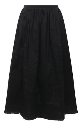 Женская льняная юбка UMA WANG черного цвета, арт. S1 W UP2002 | Фото 1 (Материал внешний: Лен; Длина Ж (юбки, платья, шорты): Миди; Женское Кросс-КТ: Юбка-одежда; Стили: Гламурный)