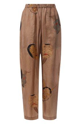 Женские брюки UMA WANG бежевого цвета, арт. S1 W UP3002 | Фото 1 (Длина (брюки, джинсы): Стандартные; Материал внешний: Вискоза, Купро; Женское Кросс-КТ: Брюки-одежда; Силуэт Ж (брюки и джинсы): Прямые; Стили: Романтичный)