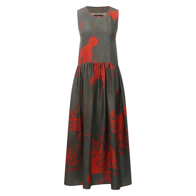 Шелковое платье Uma Wang