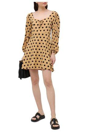 Женское платье из вискозы FAITHFULL THE BRAND бежевого цвета, арт. FF1726-EDB | Фото 2