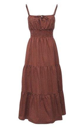 Женское хлопковое платье FAITHFULL THE BRAND коричневого цвета, арт. FF1724-BDP | Фото 1