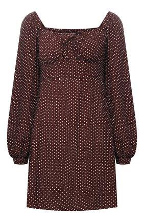 Женское платье из вискозы FAITHFULL THE BRAND коричневого цвета, арт. FF1723-BDP | Фото 1
