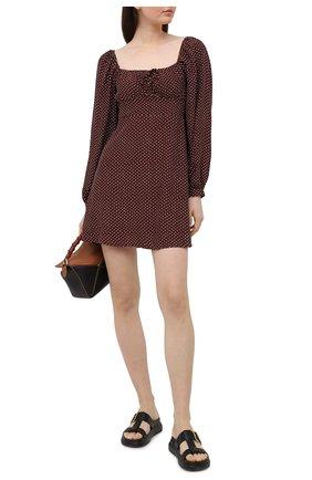 Женское платье из вискозы FAITHFULL THE BRAND коричневого цвета, арт. FF1723-BDP | Фото 2