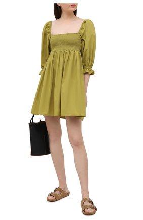 Женское хлопковое платье FAITHFULL THE BRAND зеленого цвета, арт. FF1720-P0L | Фото 2