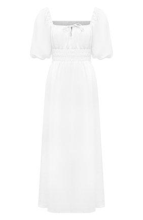 Женское льняное платье FAITHFULL THE BRAND белого цвета, арт. FF1705-WHT | Фото 1