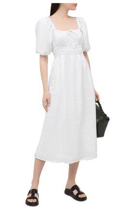 Женское льняное платье FAITHFULL THE BRAND белого цвета, арт. FF1705-WHT | Фото 2