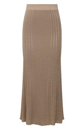Женская юбка из вискозы BY MALENE BIRGER бежевого цвета, арт. Q69652003/0RISTA | Фото 1