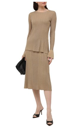 Женская юбка из вискозы BY MALENE BIRGER бежевого цвета, арт. Q69652003/0RISTA | Фото 2