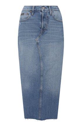 Женская джинсовая юбка POLO RALPH LAUREN синего цвета, арт. 211825856 | Фото 1