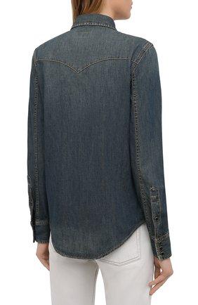 Женская джинсовая рубашка SAINT LAURENT синего цвета, арт. 497526/Y880U   Фото 4