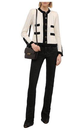 Женский шерстяной жакет SAINT LAURENT черно-белого цвета, арт. 648421/YAWB2 | Фото 2