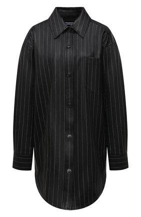 Женская кожаная рубашка ALEXANDER WANG черного цвета, арт. 1WC2213144 | Фото 1