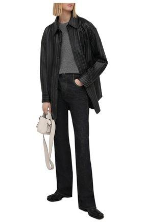 Женская кожаная рубашка ALEXANDER WANG черного цвета, арт. 1WC2213144 | Фото 2