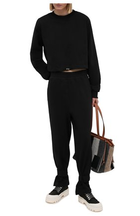 Женский хлопковый свитшот THE FRANKIE SHOP черного цвета, арт. SW CHS KR 11 | Фото 2