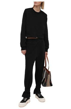 Женские хлопковые брюки THE FRANKIE SHOP черного цвета, арт. PA TCS KR 11 | Фото 2