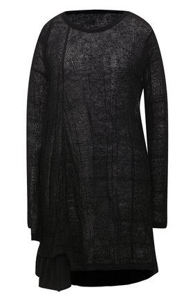 Женский льняной пуловер Y`S черного цвета, арт. YT-T09-672   Фото 1