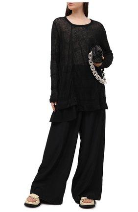 Женский льняной пуловер Y`S черного цвета, арт. YT-T09-672 | Фото 2